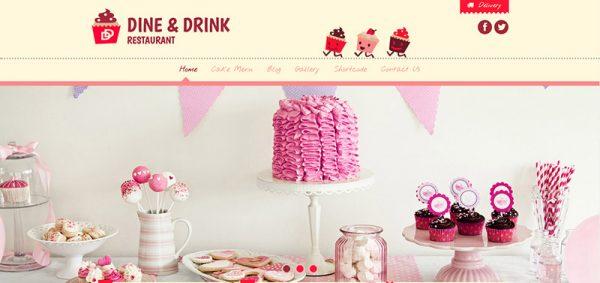 dine drink restaurant wordpress theme - arunace blog