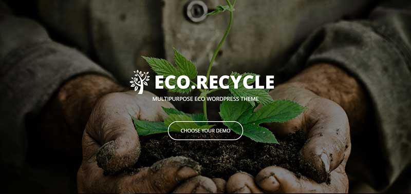 eco recycle wordpress theme - arunace blog