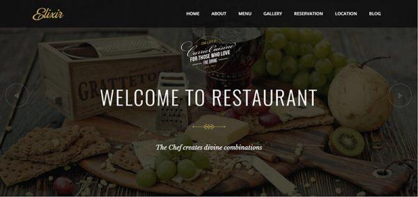 elixir restaurant wordpress theme - arunace blog