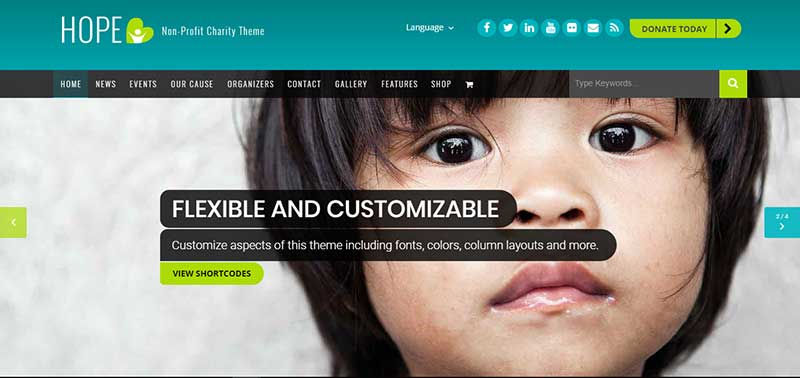 hope wordpress theme - arunace blog