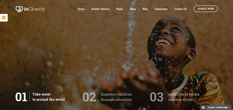incharity wordpress theme - arunace blog