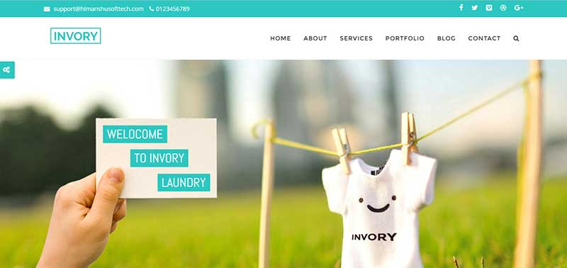 invory wordpress theme - arunace blog