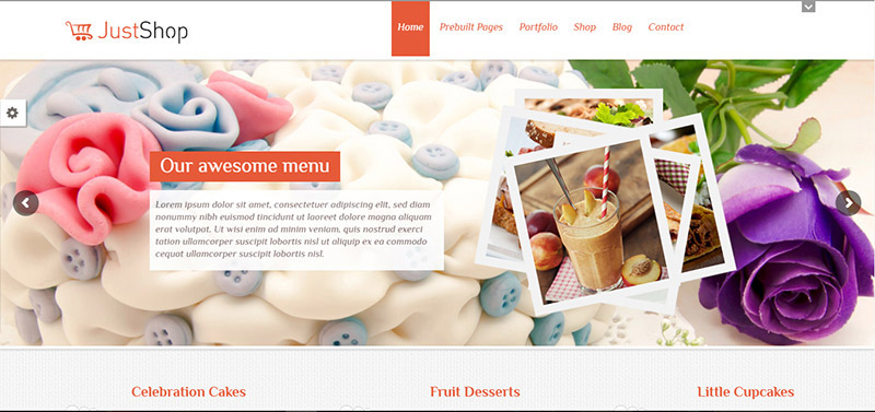 justshop cake wordpress theme - arunace blog