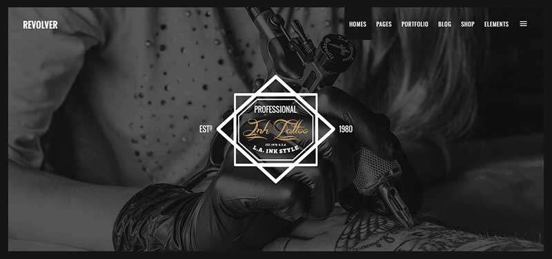 revolver tattoo shop wordpress theme - arunace blog