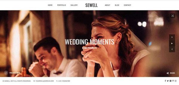 sewell wordpress theme - arunace blog