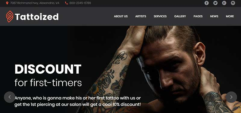 tattoized wordpress theme - arunace blog