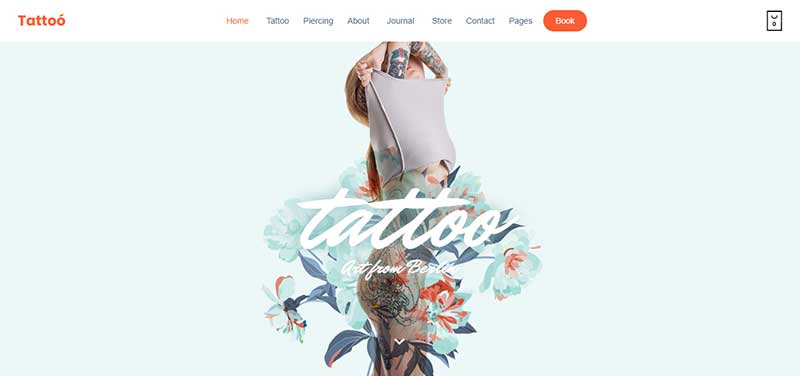 tattoo shop wordpress theme - arunace blog