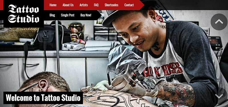 tattoo studio wordpress theme - arunace blog