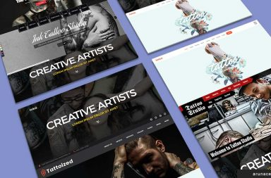 tattoo wp themes banner - arunace blog