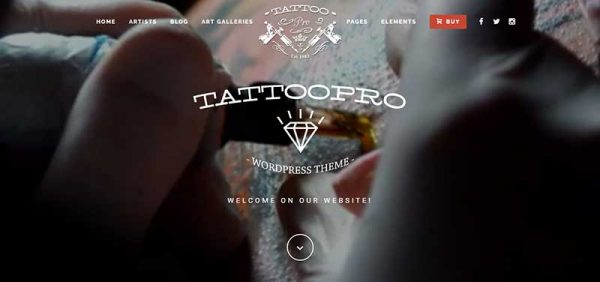 tattoopro wordpress theme - arunace log
