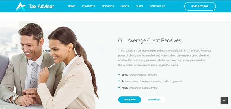 tax advisor wordpress theme - arunace blog