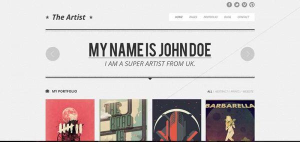 the artist wordpress theme - arunace blog