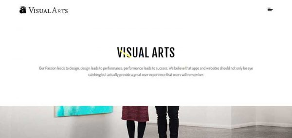 visual arts wordpress theme - arunace blog