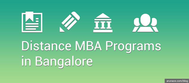distance mba in bangalore - arunace blog
