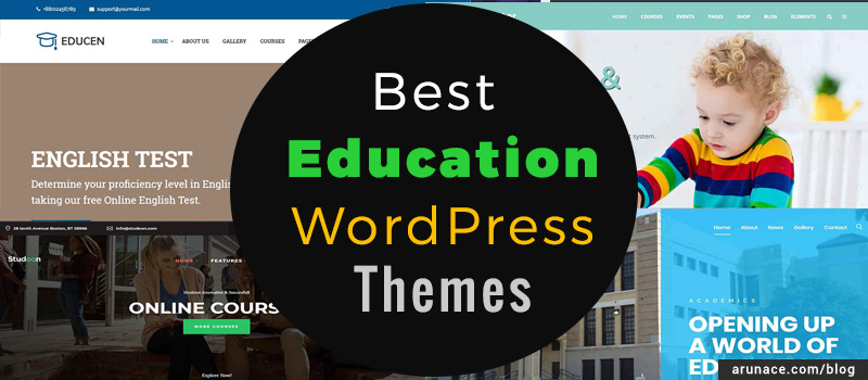 best education wordpress themes arunace blog