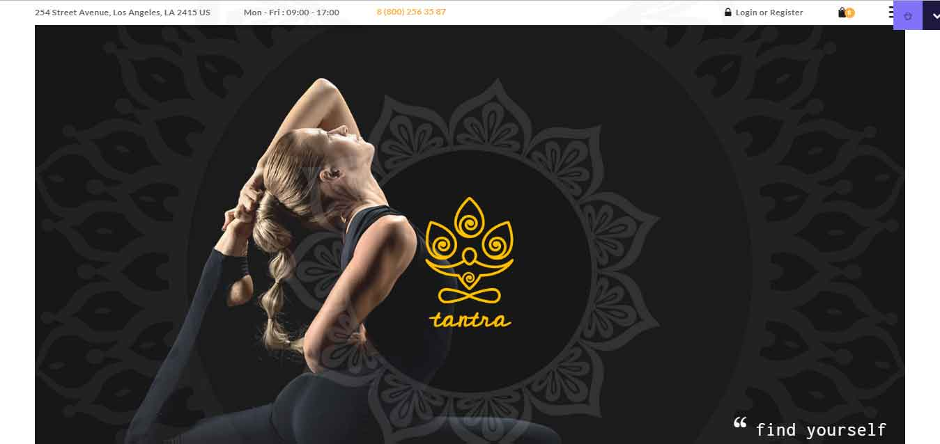 tantra yoga studio wordpress theme for online shop review arunace