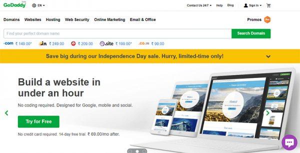 godaddy hosting arunace blog